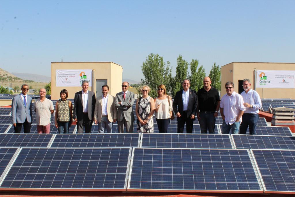 Visita Conseller La Morenica, foto de la cubierta solar