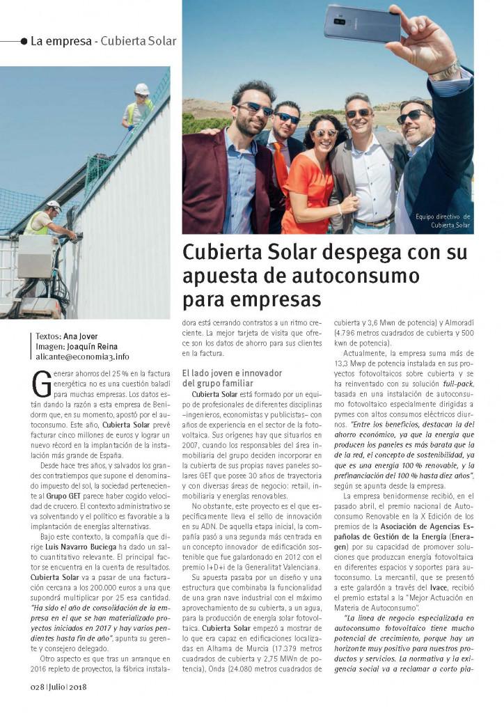 Artículo Cubierta Solar - Economia3 Julio 2018 p1