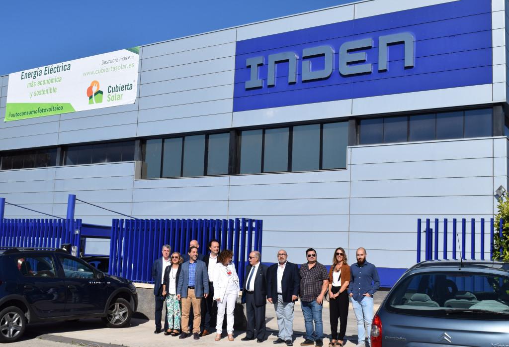 Visita IVACE cubierta solar Plásticos Inden