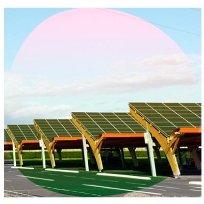 Parking con cubierta solar