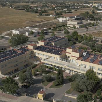 Imagen aérea instalación fotovoltaica La Morenica