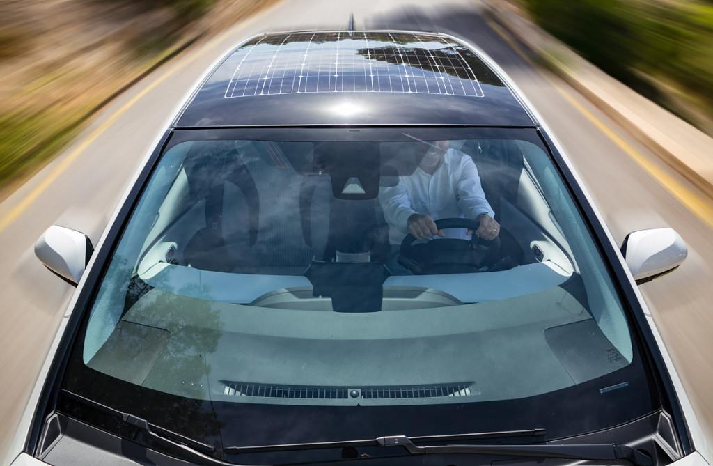 Cubierta Solar coche fotovoltaico