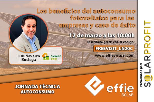 Conferencia en Effie de Luis Navarro de Cubierta Solar