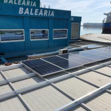 Instalación fotovoltaica en Baleària