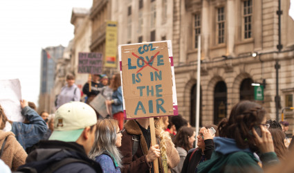 Manifestantes anti CO2